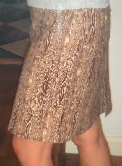 labels joel dewberry low waist skirt woodgrain fabric
