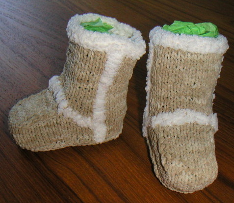 Knitted Ugg Baby Booties Free Pattern Mit Hillel